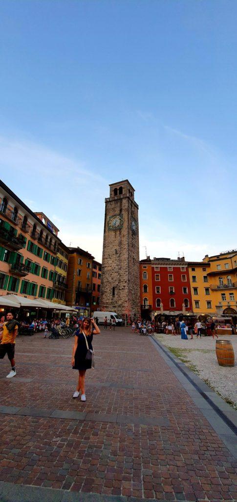 Wieża Torre Apponale w Riva del Garda.