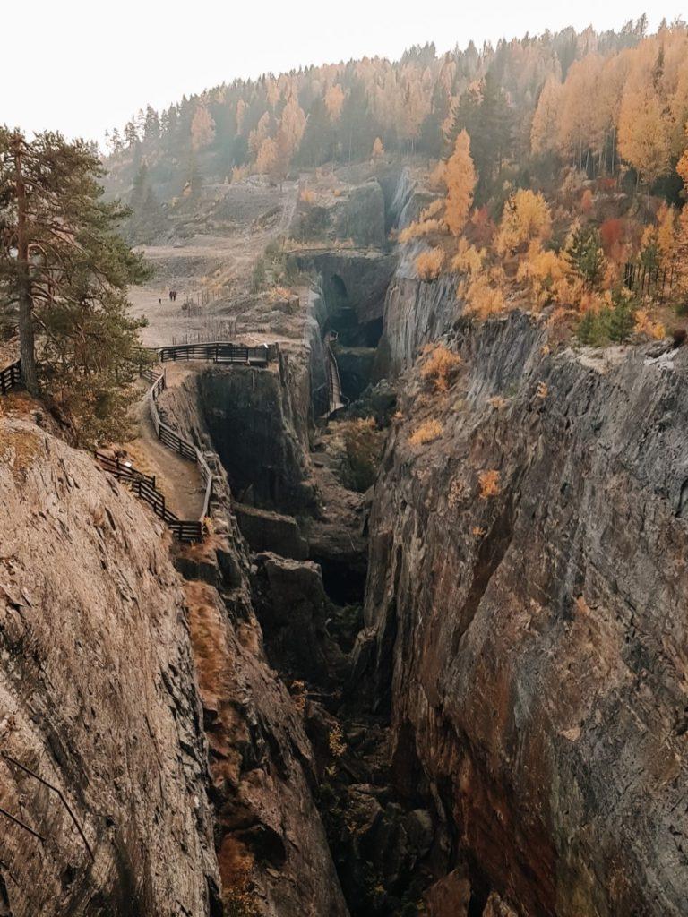 Kanion w kopalni kobaltu niedaleko Oslo.
