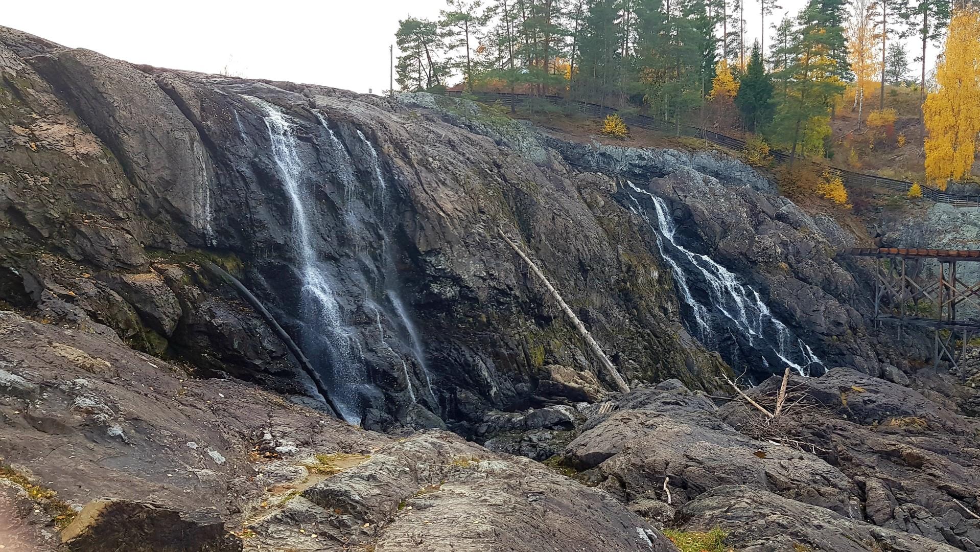 Wodospad niedaleko Oslo.