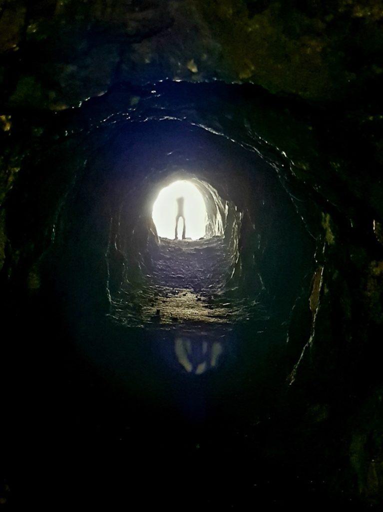 Tunel opuszczonej kopalni niedaleko Oslo.