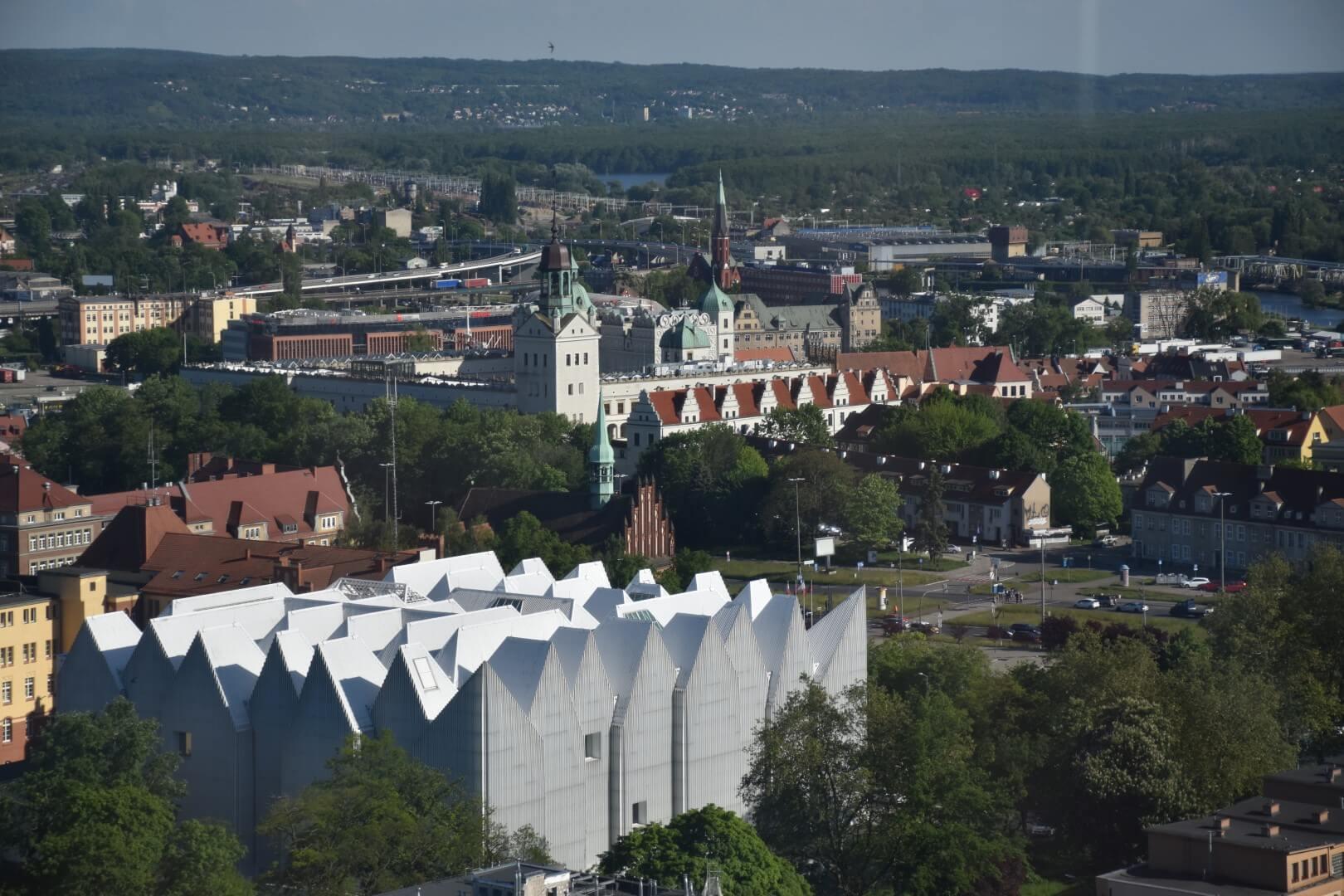Panorama Szczecina z Cafe 22.