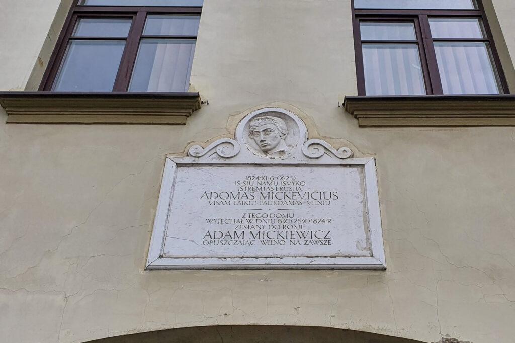 Dom, Adama Mickiewicza w Wilnie.