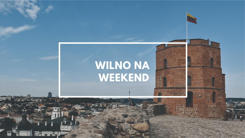 Baszta Giedymina w Wilnie i widok na wilno.