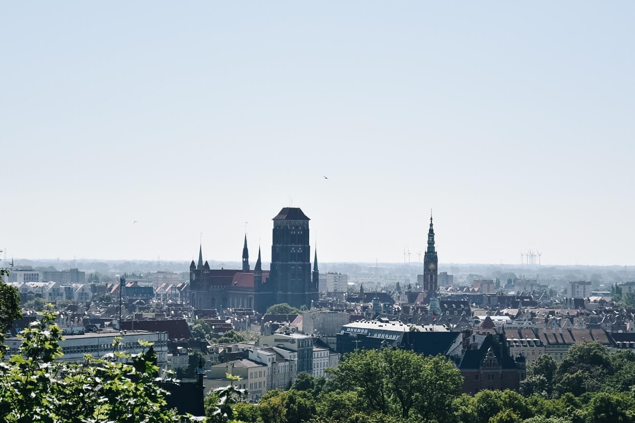 Gdańsk widziany z Góry Gradowej.