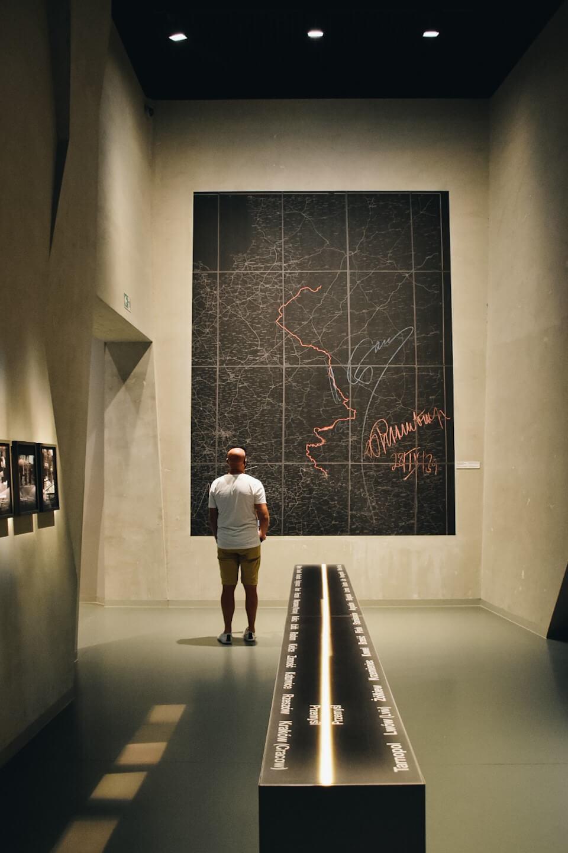 Muzeum II Wojny Światowej w Gdańsku, mapa podziału europy.