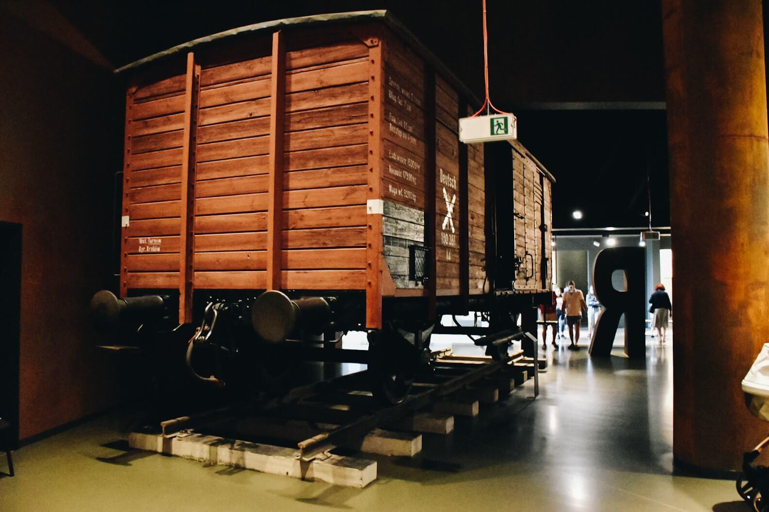 Muzeum II Wojny Światowej w Gdańsku, wagon transportowy.