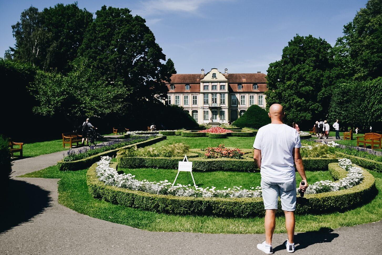 Pałac Opatów i ogrody w Parku Oliwskim.