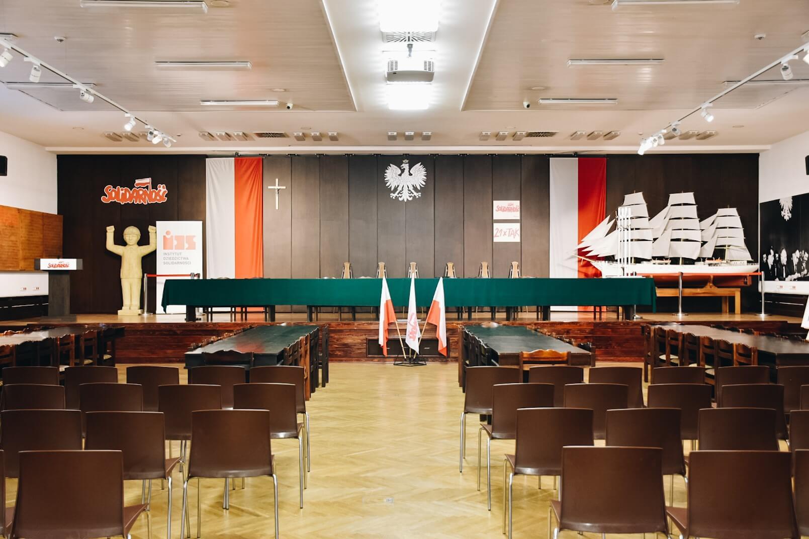 Sala BHP w Stoczni Gdańskiej.