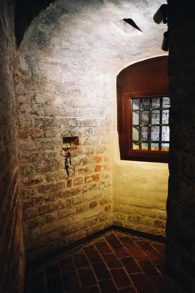Muzeum Bursztynu w Gdańsku, dane wnętrze więzienia.