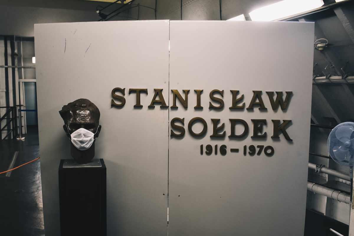 Wnętrze statku Sołdek w Gdańsku.