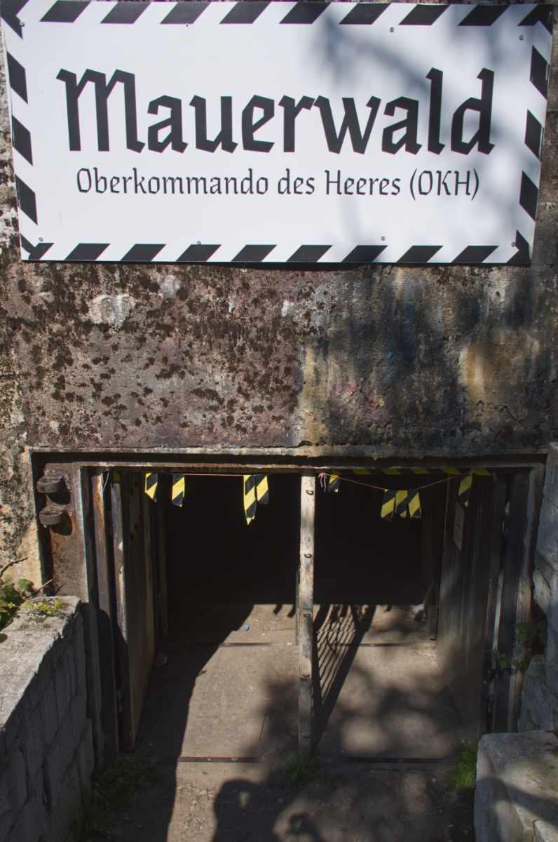 wejście do bunkra w Mamerkach.