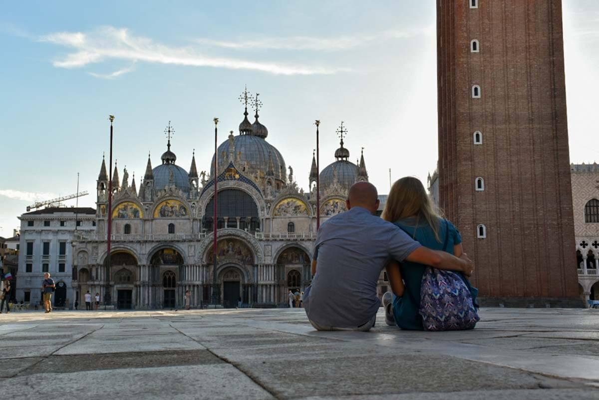 Para na pl. św. Marka w Wenecji.
