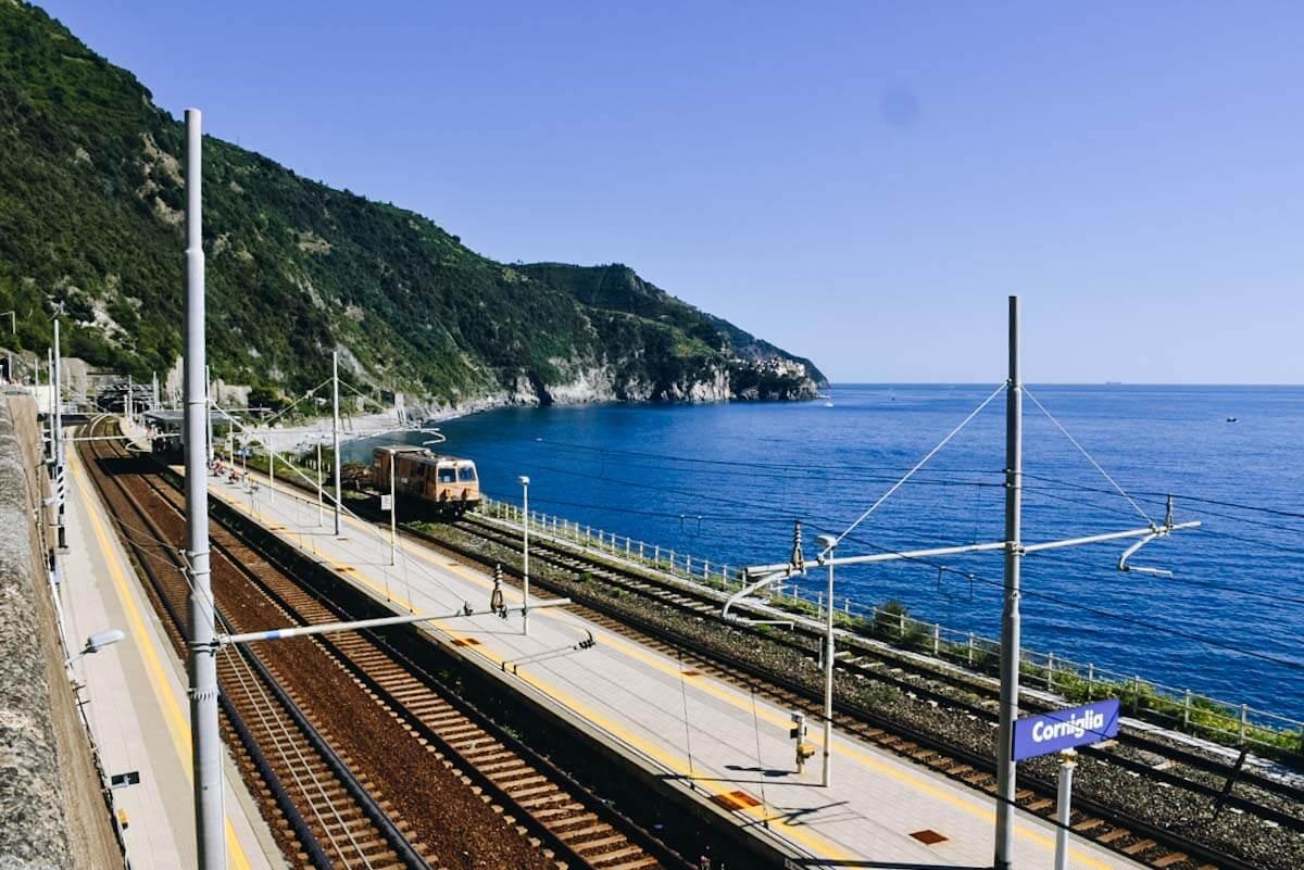 Stacja kolejowa w Cinque Terre.