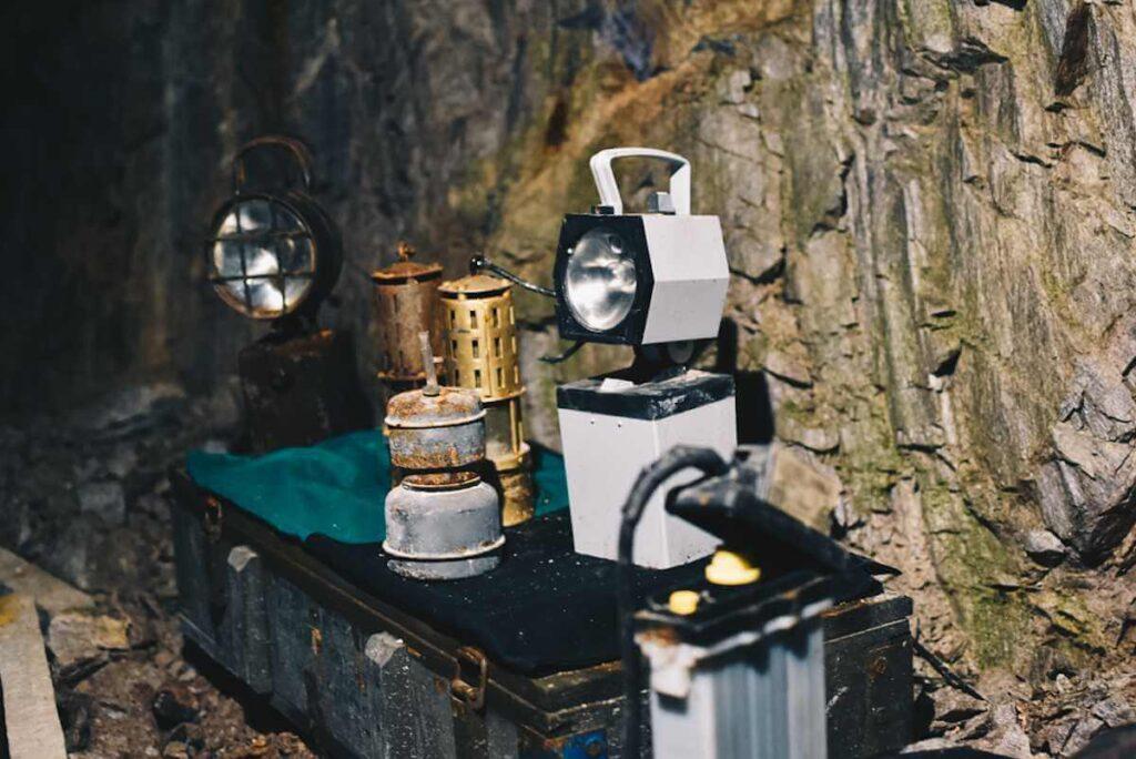 Kopalnia Uranu w Kletnie, sprzęt używany przez górników.