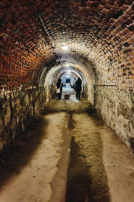 Twierdza Srebrna Góra, podziemne tunele.