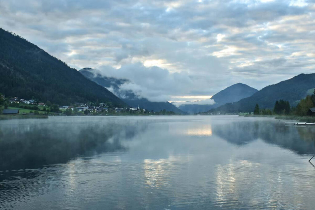 Widok na jezioro Wiesensee.